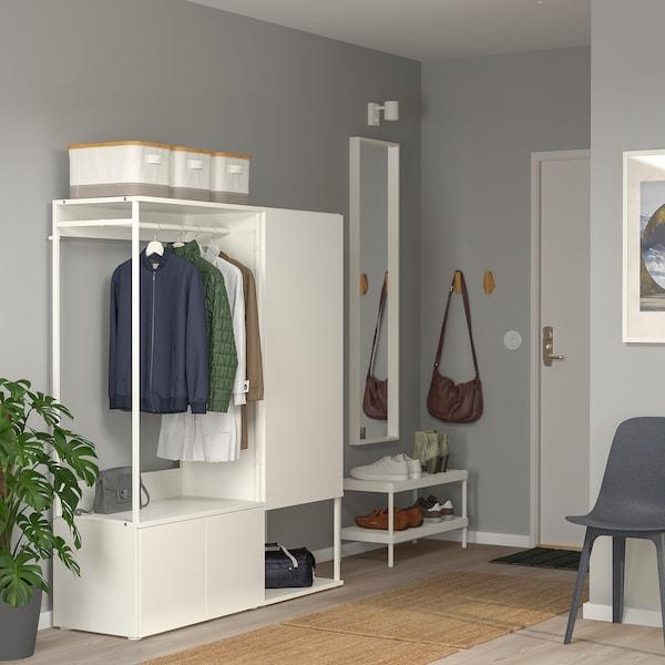 普拉萨 三门衣柜 白色/福纳 白色 140 厘米 42 厘米 161 厘米