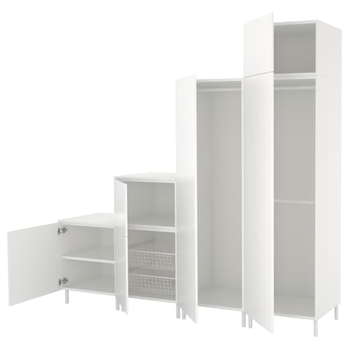 普拉萨 衣柜 白色/福纳 白色 240 厘米 57 厘米 231 厘米
