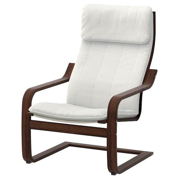 POÄNG 波昂 单人沙发/扶手椅, 褐色/兰斯塔 自然色