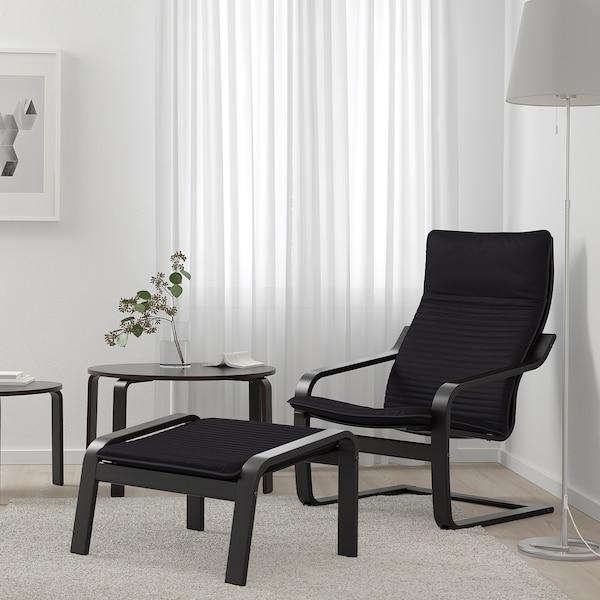 波昂 脚凳 黑褐色/基尼萨 黑色 68 厘米 54 厘米 39 厘米