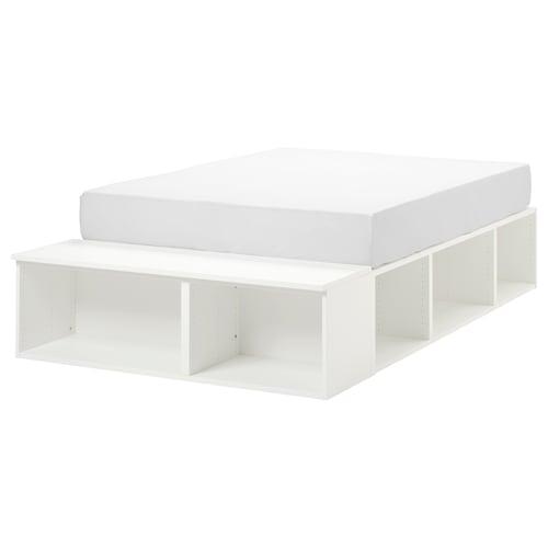 普拉萨 床架带储物, 白色, 140x200 cm