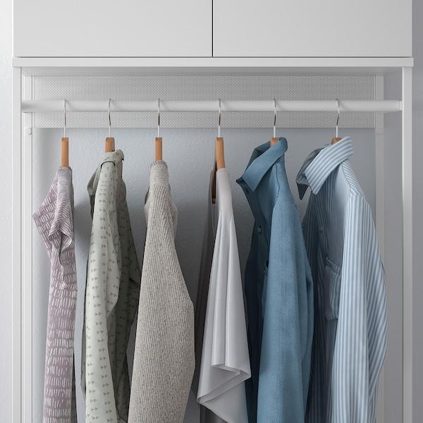 普拉萨 衣柜带2个门+3个抽屉, 白色/福纳 白色, 80x42x221 厘米