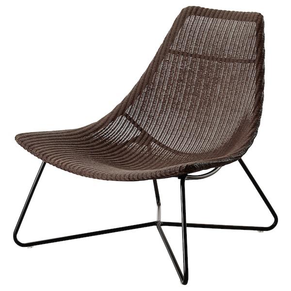 RÅDVIKEN 洛维根 单人沙发/扶手椅, 深褐色/黑色