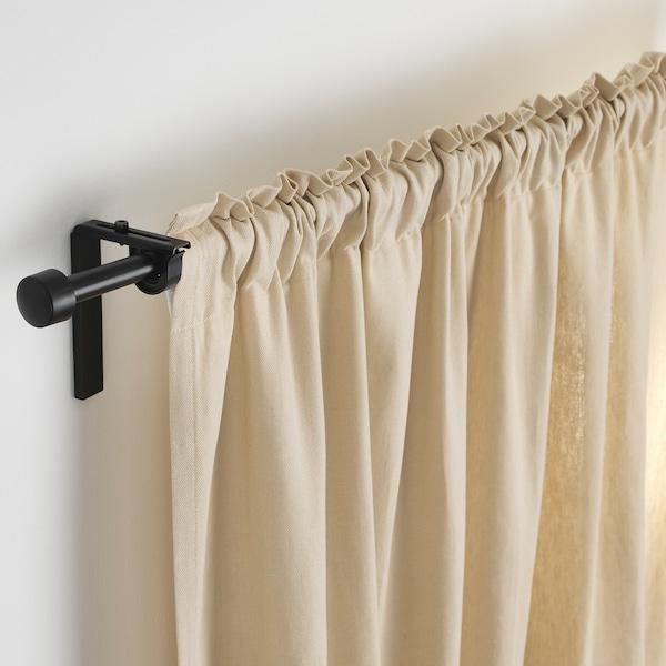 瑞卡 窗帘杆组合 黑色 120 厘米 210 厘米 5 公斤