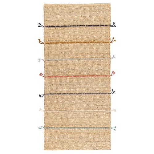 拉克雷 平织地毯 手工制作 自然色/多色 160 厘米 70 厘米 7 毫米 1.12 平方米 2400 克/平方米