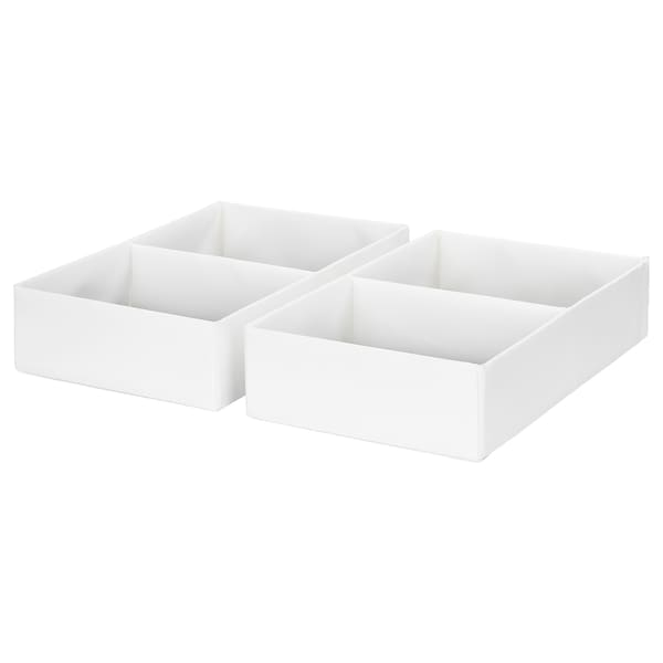 拉斯拉 带格储物盒 白色 25 厘米 41 厘米 9 厘米 2 件