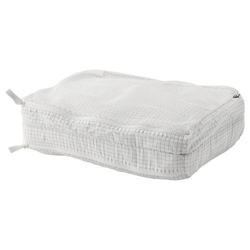 雷恩萨瑞 分隔式衣类收纳袋 方格图案/白色 34 厘米 25 厘米 9 厘米
