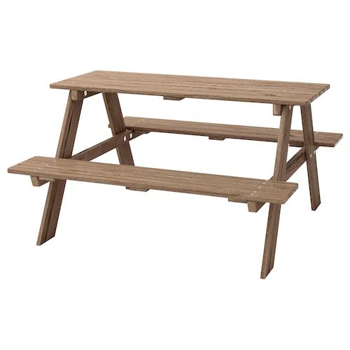 瑞索 儿童野餐桌 灰褐漆 92 厘米 89 厘米 49 厘米
