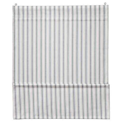 林洛马 罗马帘 白色/蓝色 160 厘米 80 厘米 1.28 平方米