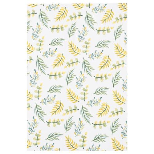 利巴尔 布料 白色/叶 绿黄色 150 厘米 1.50 平方米