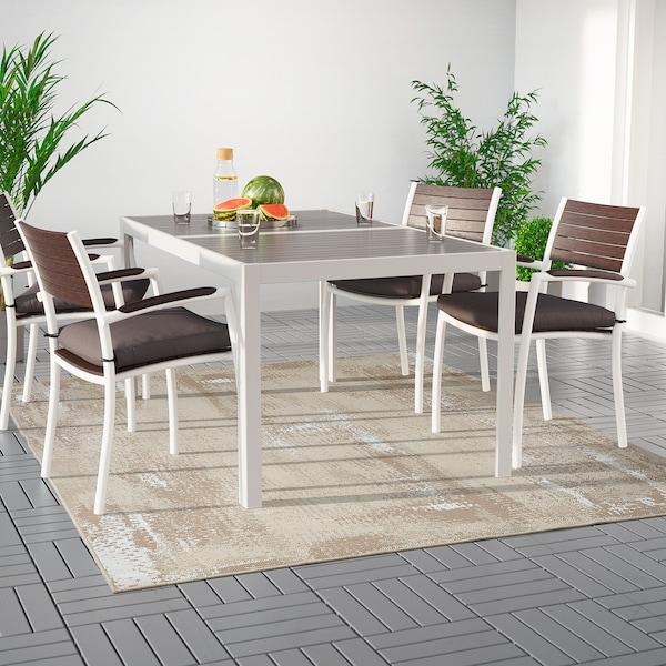 路德隆德 平织地毯,室内/户外 米黄色 250 厘米 200 厘米 4 毫米 5.00 平方米 1295 克/平方米