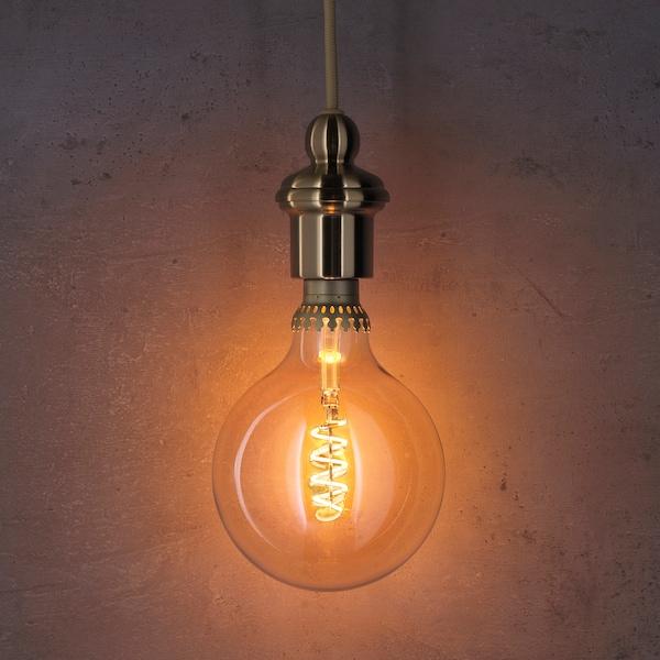 罗尔斯博 LED灯泡 E27 300流明 可调光的/球形 褐色透明玻璃 1800 开尔文 300 流明 125 毫米 5.5 瓦特 1 件