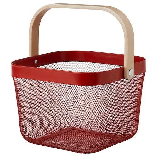 瑞沙托 篮筐, 红色, 25x26x18 厘米