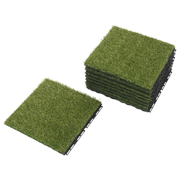 RUNNEN 鲁恩 地板饰面,户外, 人造草, 0.81 平方米