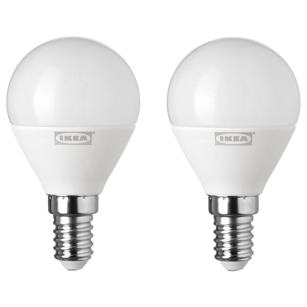 里耶 LED灯泡 E14 400流明 球形 乳白色 400 流明 4.4 瓦特 2 件