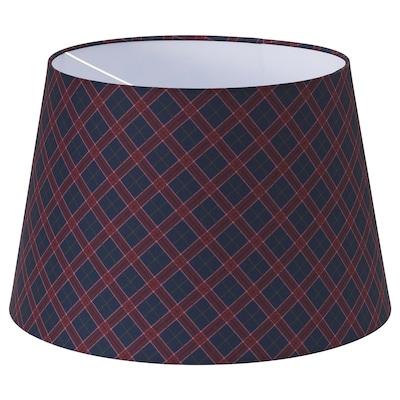 RYRA 瑞亚 灯罩, 方格 红色/蓝色, 44 厘米