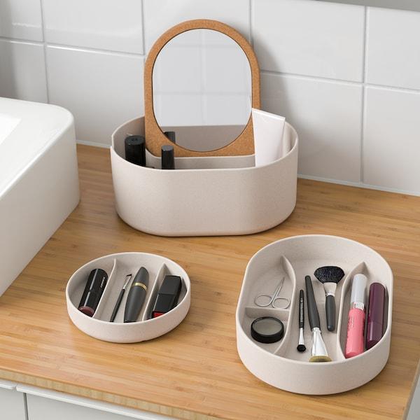 萨克斯波嘉 附镜盖储物盒, 塑料 软木, 24x17 厘米