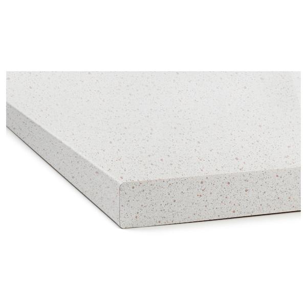 萨林 操作台面, 白色 仿石材/层压板, 186x3.8 厘米
