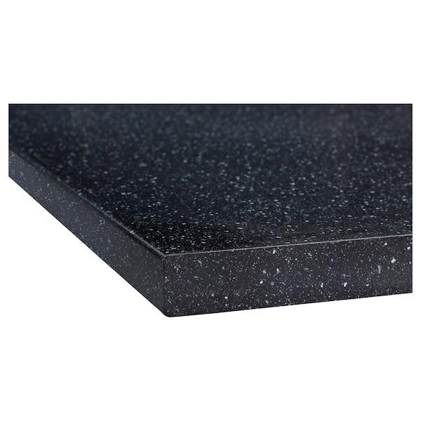 萨林 操作台面, 黑色 仿矿石/层压板, 246x3.8 厘米