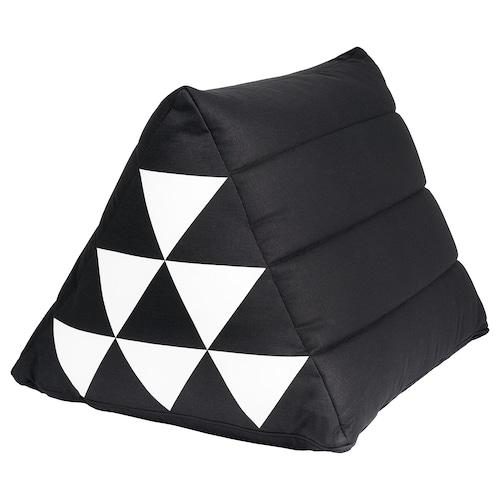 萨曼考普 靠垫, 三角形 黑色/白色, 50x40 厘米