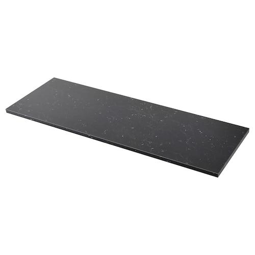 萨林 操作台面 黑色 仿大理石/层压板 246 厘米 63.5 厘米 3.8 厘米