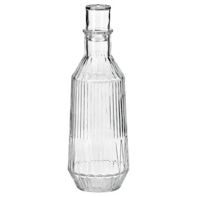 SÄLLSKAPLIG 赛思卡匹 带盖玻璃水瓶, 透明玻璃/图案, 1 公升
