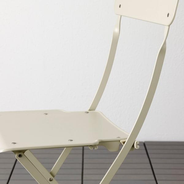 SALTHOLMEN 萨托蒙 桌子+两折叠椅,户外, 米黄色