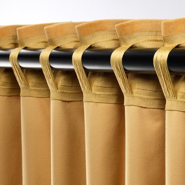 SANELA 桑尼拉 窗帘,一对, 金棕色, 140x250 厘米
