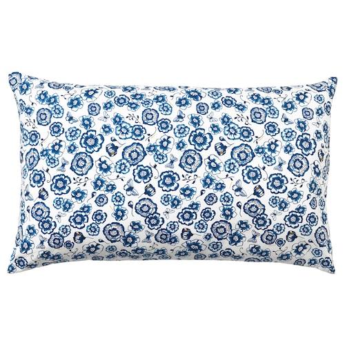 桑拉尔克 靠垫, 花/蓝色 白色, 65x40 厘米