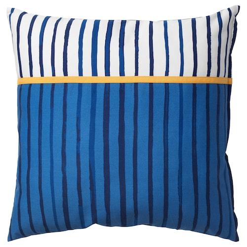 桑拉尔克 靠垫, 条纹/蓝色 橙色, 50x50 厘米