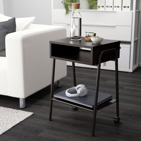SETSKOG 瑟茨库格 床头桌, 黑色, 45x35 厘米