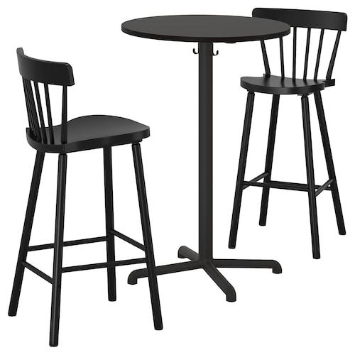思丹塞 / 诺勒利 吧桌+2吧凳, 煤黑色 煤黑色/黑色