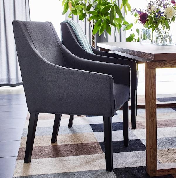 斯德哥尔摩 平织地毯, 手工制作/方格图案 褐色, 250x350 厘米