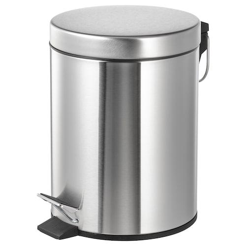 斯加帕 踏板式垃圾桶, 不锈钢, 5 公升