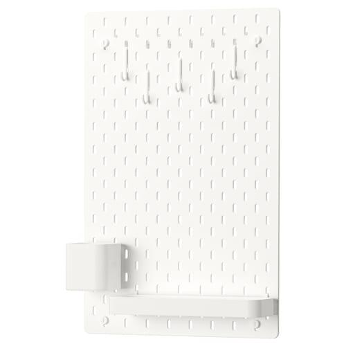 斯考迪斯 小钉板组合, 白色, 36x56 厘米