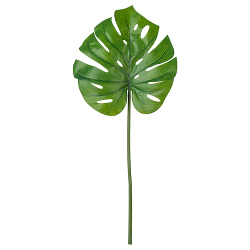 思米加 人造枝叶, 龟背竹/绿色, 80 厘米