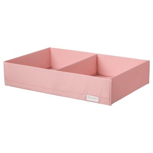 斯图克 储物盒带格, 粉红色, 34x51x10 厘米