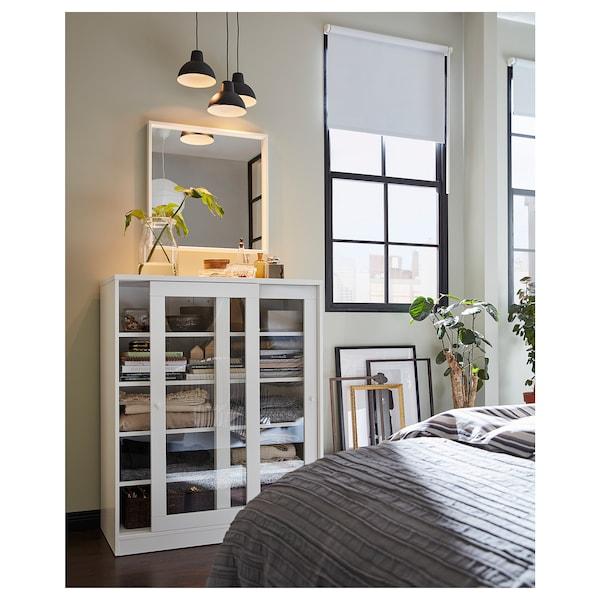 斯维德 玻璃门橱柜, 白色, 100x123 厘米