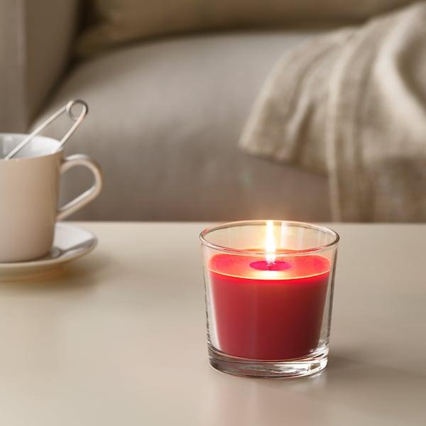 西恩利 香味烛和玻璃杯 红色花园浆果/红色 9 厘米 40 小时