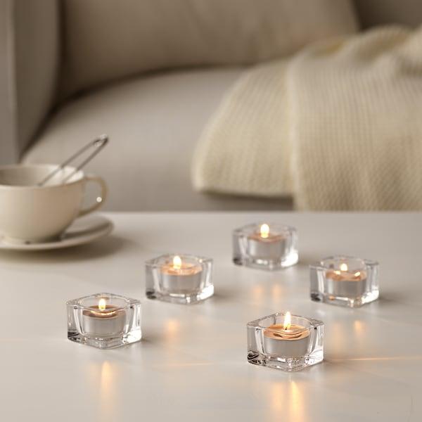 SINNLIG 西恩利 香味小圆蜡烛, 肉豆蔻与香草/灰色