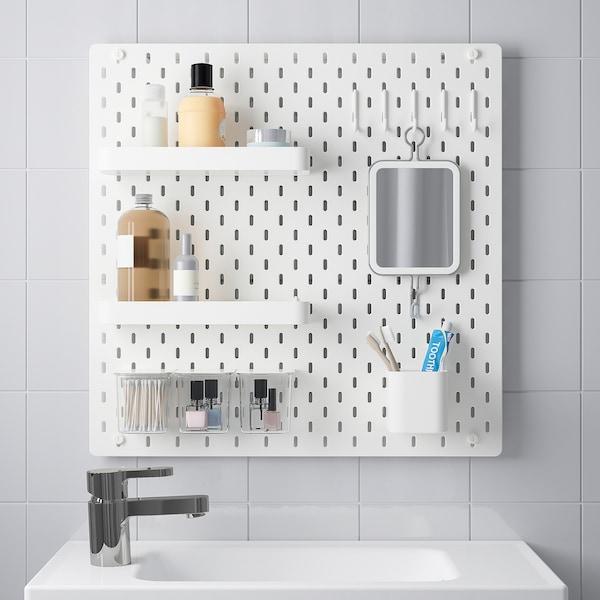 SKÅDIS 斯考迪斯 小钉板组合, 白色, 56x56 厘米