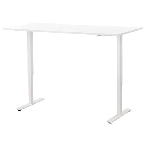 斯卡斯塔 坐/站两用式办公桌 白色 160 厘米 80 厘米 70 厘米 120 厘米 50 公斤