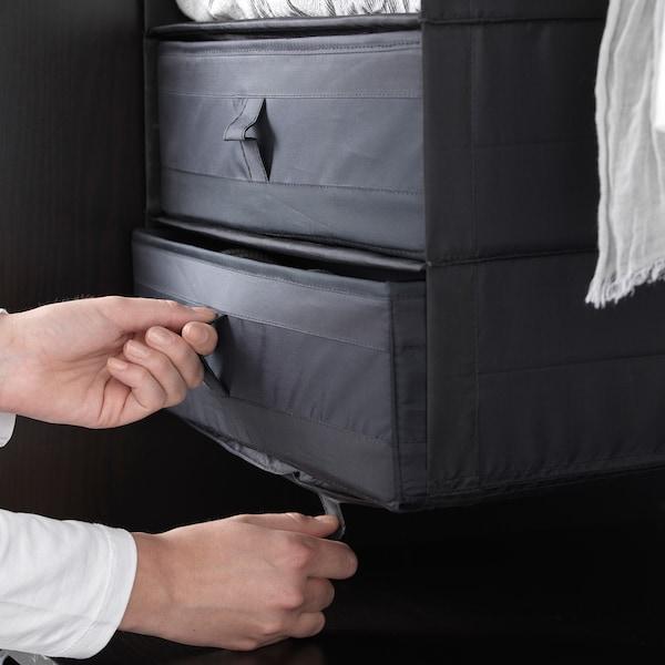 思库布 储物盒带格 黑色 44 厘米 34 厘米 11 厘米