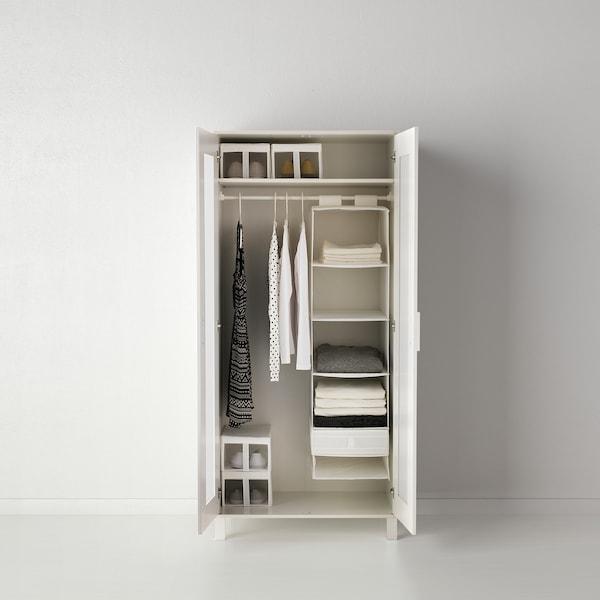 思库布 储物盒带格 白色 44 厘米 34 厘米 11 厘米