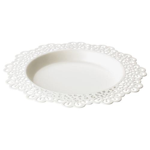 斯古拉 蜡烛盘 白色 18 厘米