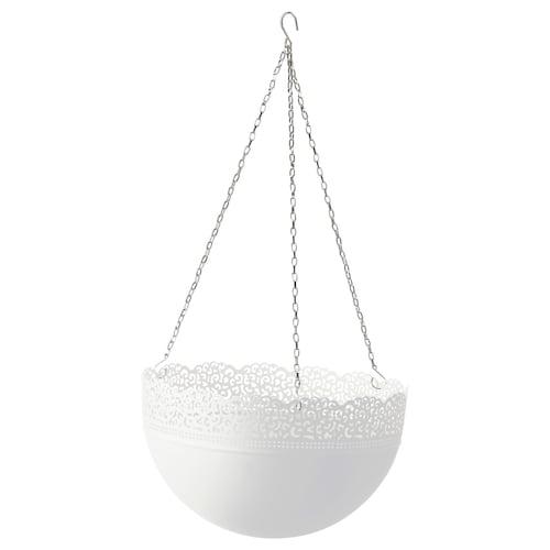 斯古拉 悬挂花盆 室内/户外/白色 18 厘米 5 公斤 30 厘米