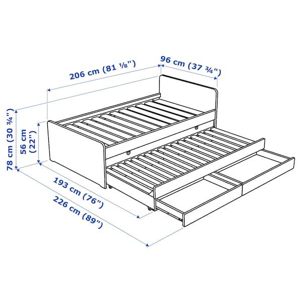 斯莱克 床架带储物 白色 100 公斤 207 厘米 98 厘米 91 厘米 57 厘米 58 厘米 80 厘米 193 厘米 207 厘米 200 厘米 90 厘米