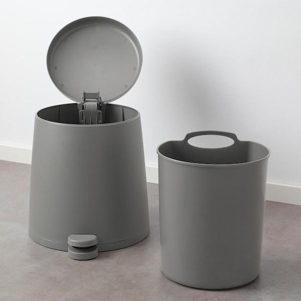 思纳普 踏板式垃圾桶 灰色 37 厘米 32 厘米 12 公升
