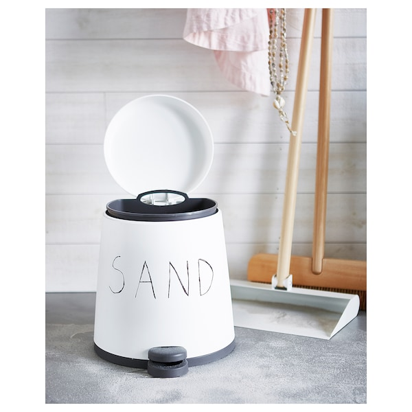 思纳普 踏板式垃圾桶 白色 29 厘米 26 厘米 5 公升