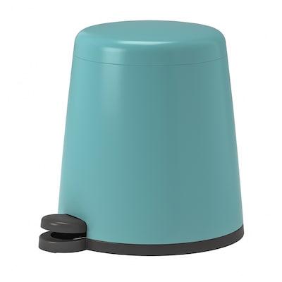 SNÄPP 思纳普 踏板式垃圾桶, 蓝色, 5 公升